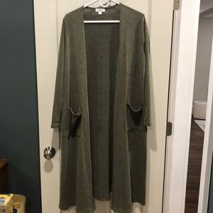 Lularoe olive Sarah long sleeve duster/cardigan